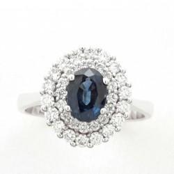 Anello Zaffiro Blu